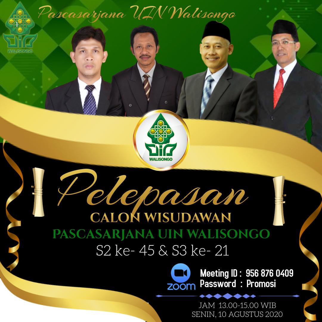 Pelepasan Wisudawan/wati Pascasarjana UIN Walisongo Semarang